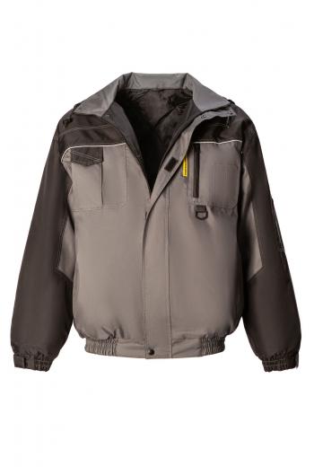 Куртка СКАУТ светло-серая-черная